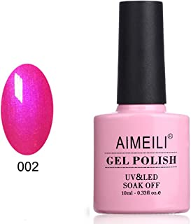 AIMEILI Red Gel Nail Polish Shimmer Soak Off UV LED Gel Varnish - Tutti Fruiti (002) 10ml