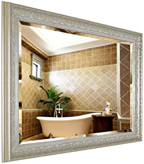 Shabby Chic Large Rectangle Framed Wall Mirror Vintage Style Mirror for Living Room Hallway 5CD1 (Color : C, Size : 50 * 70cm)