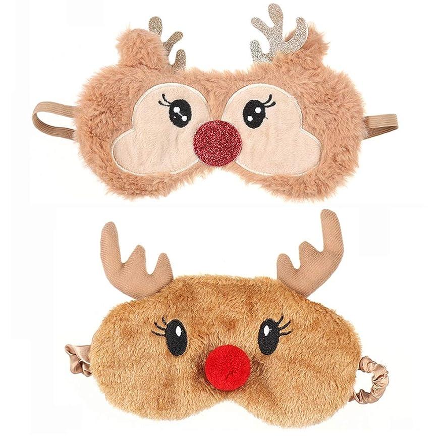 ムス推進最後にNOTE かわいいクリスマスプレゼント漫画鹿アイカバーぬいぐるみ布睡眠マスクナチュラル睡眠アイマスクアイシェードかわいいアイシェード