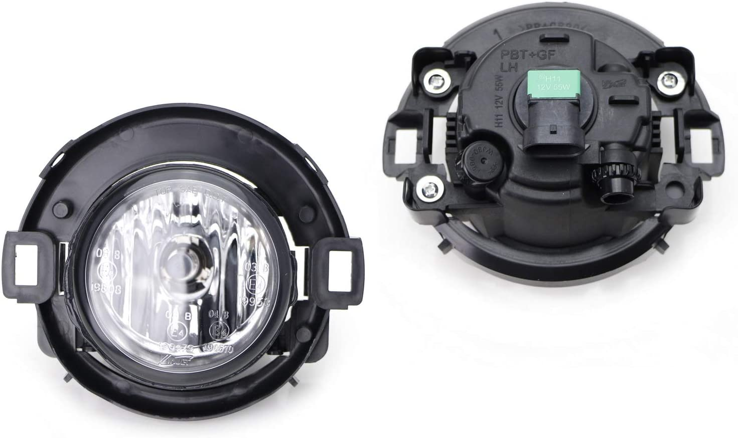 iJDMTOY OEM-Spec H11 Halogen Bulb Fog Light Assemblies Kit with Relay Switch 2005-2015 Nissan Xterra Compatible With 2010-2020 Nissan Frontier Plastic Bumper