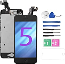 for iPhone 5 Screen Replacement [Black],Drscreen Full LCD Display Touch Glass Screen Digitizer Replacement Kit with Home Button and Front Camera for A1428/A1429/A1442, Repair Tool