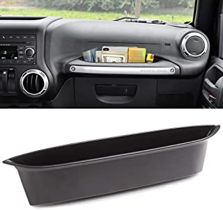 HITBEAM for Jeep Wrangler Accessories JK Unlimited 2011-2018 Jeep Wrangler JK JKU 2-door/4-door, Interior jk Accessories, Organizer Grab Handle Car Accessory Box Black