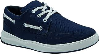 حذاء Zero 3 Faux Nubuck Contrast Eyelet Mocc-Toe ذو رقبة منخفضة برباط للرجال