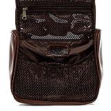 SID & VAIN Hänge-Kulturtasche echt Leder Heathrow Kulturbeutel Waschbeutel zum Aufhängen Lederbeutel Unisex braun - 6