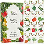 OwnGrown Gemüse Samen Set, 12 Sorten Premium Gemüse...