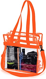 Lify Bags for Less Clear Tote Stadium Approved with Handles And Zipper 12 inch x 12 inch x 6 inch- 1 Piece