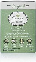 Leaner Creamer, Non-Dairy Coffee Creamer French Vanilla – Sugar Free, Unsweetened, Low Calorie, Coconut Oil, Keto, Gluten ...