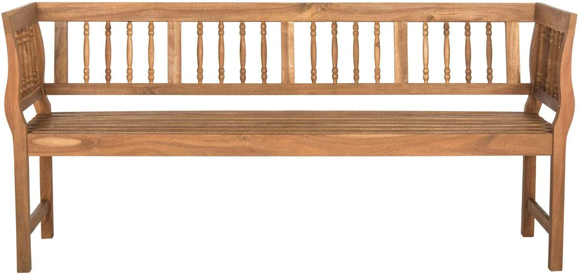 Safavieh PAT6732A Outdoor Collection Bench 2021 Large-scale sale Natural Brentwood