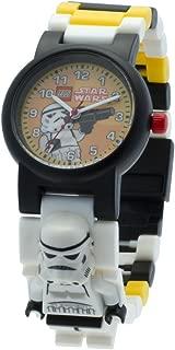 Lego Star Wars 8020424 Stormtrooper Minifigure Link Watch | Black/White | Plastic | 25mm case Diameter | Analog Quartz | boy Girl | Official