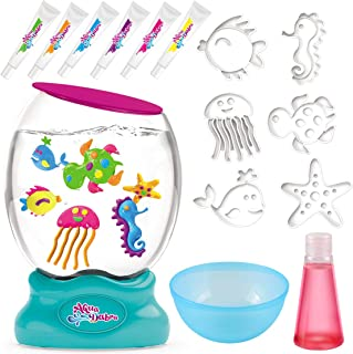 STSTECH DIY Aquarium Fish Tank Toy,Create Your Own Fantasy Ocean World with Magic Paint and Sea Animal Moulds, Fun to Learn STEAM Playset Marine Animal Making Kit for Kids Bday Xmas Gift Party Favor
