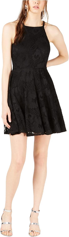 bar III Womens Lace Fit & Flare Dress