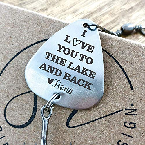 Fishing Lure Gift For Him I Love You To The Lake And Back Anniversary Gift Men's Gift Idea Wedding Gift Idea I Love You More Personalized LAKE-LURE