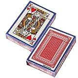 Senbos Spielkarten 2X Pokerkarten Poker Size Standard Index, 12 Kartenspiele (6 blau und 6 rot), für Blackjack, Euchre, Canasta, Pinochle-Kartenspiel, Casino Grade