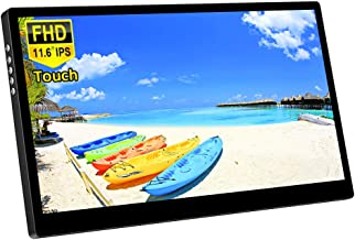 Corkea 11.6 Inch Portable Touchscreen Monitor,1080P IPS Display with USB/HDMI Video Input for Mini PC Laptop,PS3 PS4, Swit...