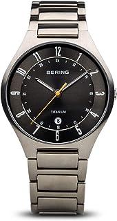 BERING Reloj Analógico para Hombre de Cuarzo con Correa en Titanio