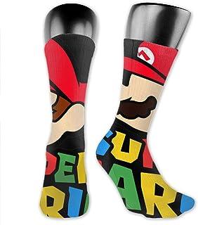 AsakawaKoutarou, S-Up-Er M-Ar-Io Bros Unisex Moda Impresión Algodón Transpirable Casual Deporte Calcetines Largos Calcetines Gruesos