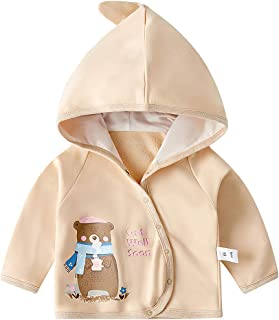amropi Baby Boys Girls Hoodie Jacket Animals Print Outwear Cloak Coat Light and Thin for 0-3 Years