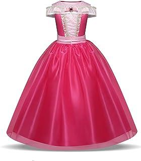 NNJXD Princesa Aurora Fiesta de Disfraces Vestido de Las Muchachas Carnival hasta