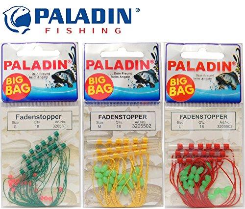 Paladin 18 Fadenstopper + Perlen Schnurstopper Spirolino Posen, Forellenangeln, Angeln auf Forelle, Größe:M