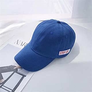 Lei Zhang Cap Children ins Korean Wild Exclamation Letters Small Fresh Soft Baseball Cap Spring and Summer Sun Shade hat (Color : Blue, Size : Adjustable)