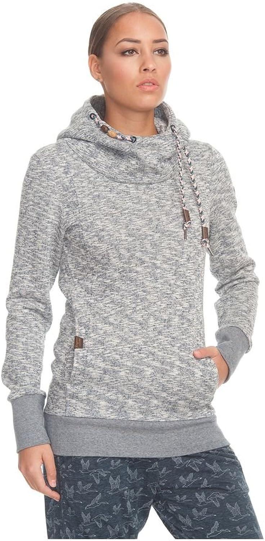 Ragwear Sweater Damen Beat 1721-30013 Grau meliert Indigo Melange 2051