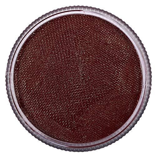 Pigment de maquillage de visage/corps de 12 couleurs, pigment mate professionnel de peinture de corps à base d'eau lavable pour des costumes, parties, théâtre, festivals (Rouge brique (# 8))