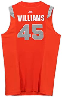 Sean Williams Syracuse Orange Game-Used #45 Orange Jersey vs. UConn Huskies on March 12, 2009 - Size 54+4 - Fanatics Authentic Certified