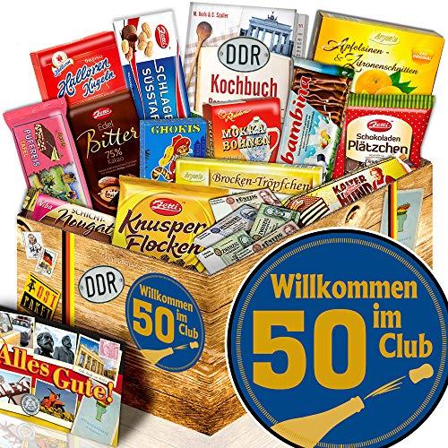 Wilkommen im Club 50 / Schokoladen Box DDR XL / Geschenke zum 50 Geburtstag