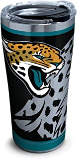 Tervis NFL Jacksonville Jaguars Rush Stainless Steel Tumbler With Lid, 20 oz, Silver