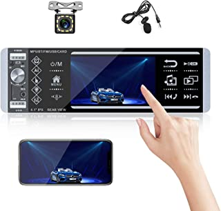 Bluetooth Car Audio System Single Din Car Stereo with Touch Screen Car Digital Media Receiver with External Microphone, Du... photo