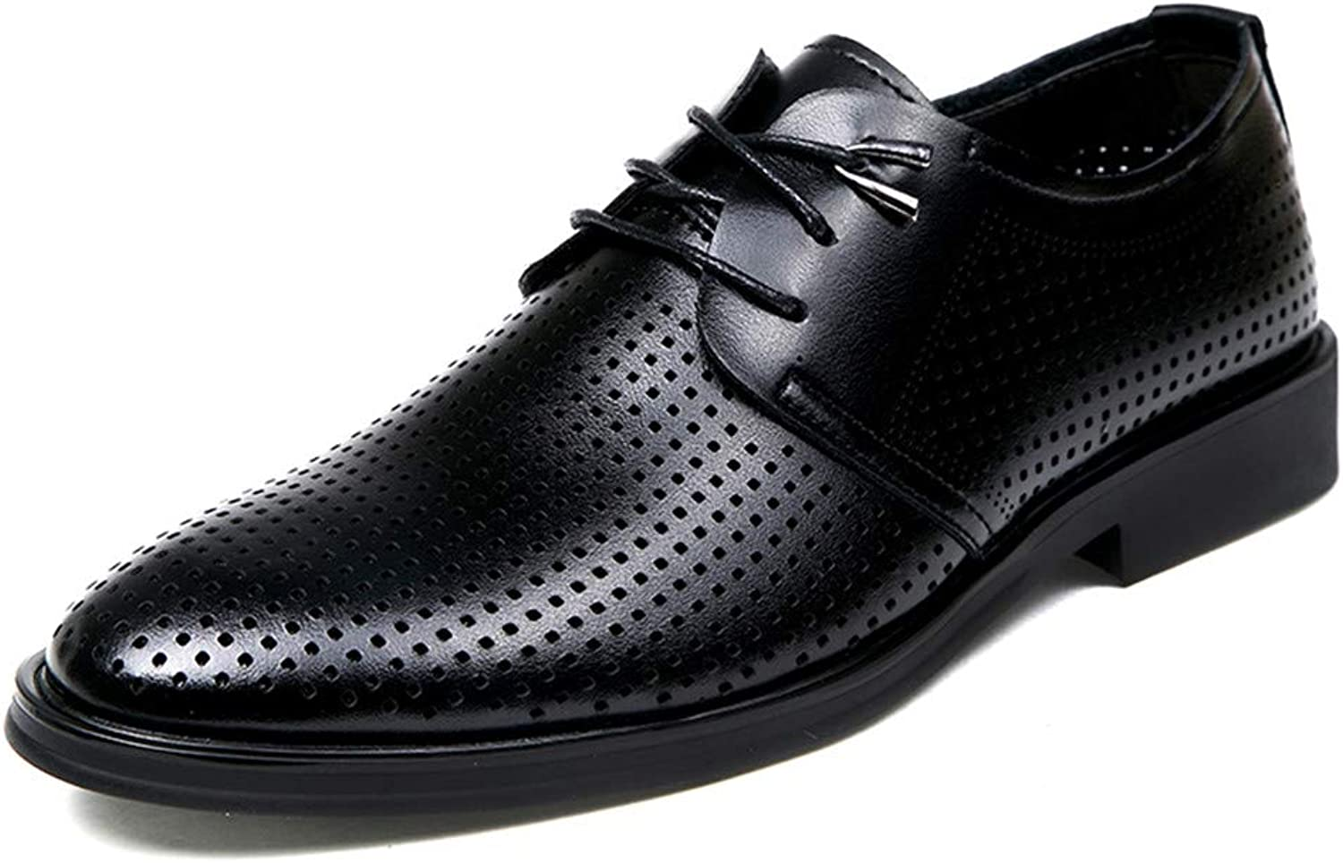 JIALUN-shoes Men's Simple Business Oxford Casual Classic Fashion Comfortable Hollow Out Breathable Formal shoes