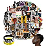 100 PCS Black Live Matter Stickers Peace Vinyl Decal Durable Small Stickers for Laptop,Water Bottles, Suitcase, Car or Any Flat Surface