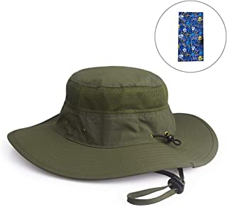 Fishing Hat Summer Sun Hat UPF 50+ UV Protection Wide Brim Cap Hat for Men Women Packable Boonie Hat for Safari Fishing Beach Golf