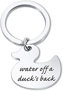 SEIRAA Rubber Duck Keychain Duck Jewelry Motivational Gift Inspirational Quote Keychain Graduation Gift