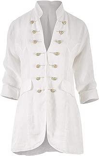 Boho Bird Womens Jackets Frontier Linen Jacket White - Coats