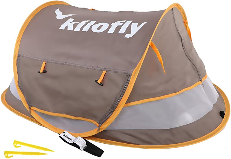 Kilofly Baby Toddler Large 52 Instant Pop Up UPF 35 Travel Beach Tent 2 Pegs
