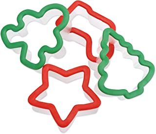 Grippy Cookie Cutter Set 4/Pkg-Holiday
