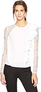 GUESS Womens Tanika Lace Knit Blouse