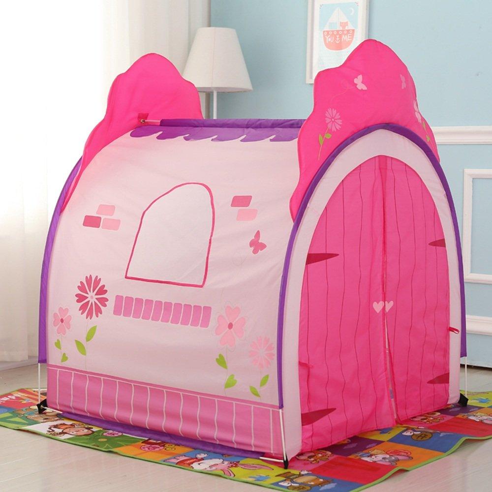 Tienda de juegos para niños Tienda de campaña Castle Princess House Patrón de flores de dibujos