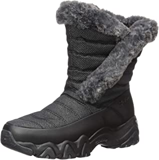 Skechers D'LITES 2.0 - Mid Quilted Sneaker Boot with Fur Trim womens Snow Boot