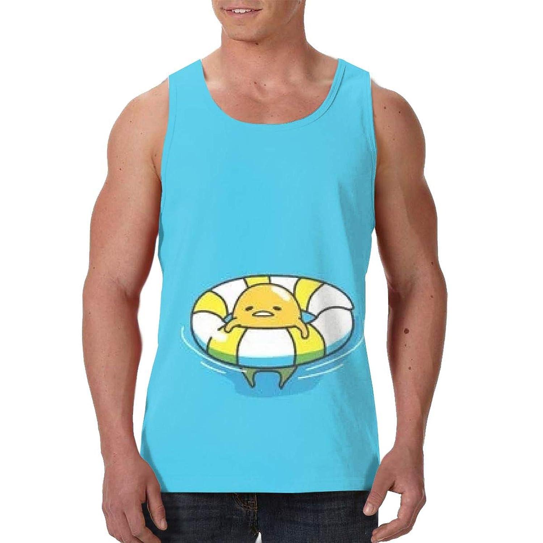 ぐでたま_ ノースリーブのTシャツプリントレジャースポーツジムビーチヨガシニアベスト、アニメの周辺、スポーツの周辺