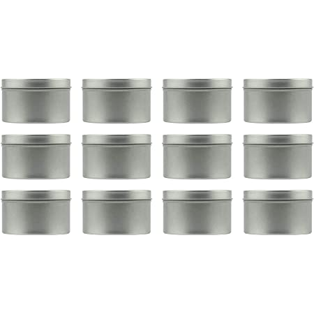 Empty Clear Top Round Silver Metal Tins for Gifts Crafts Treasures Beads