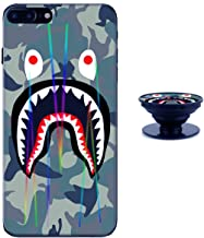 Sup Camouflage iPhone 7 8 Case Shiny Laser Style Protective TPU Cover Soft Rubber Silicone with Phone Holder Bracket Compatible iPhone 7 8 (4.7 inch)