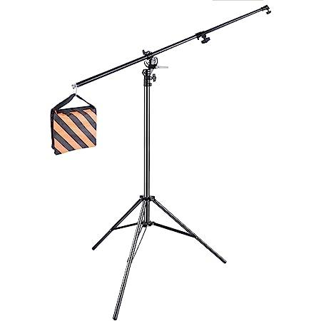 NEEWER 13ft/ 390cm双方向回転可能なアルミ製 調整可能な三脚ブームライト サンドバッグに付きスタンド スタジオ写真ビデオに対応 【並行輸入品】