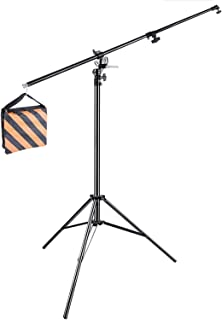 Neewer 13feet/390cm Two Way Rotatable Aluminum Adjustable Tripod Boom Light Stand with Sandbag for Studio Photography Video