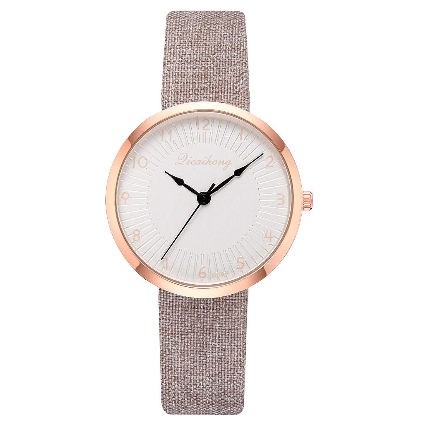 LUCAMORE Womens Leather Watch,Fashion Casual Dress Watches,Arabic Numerals Quartz Ladies Wrist Watch