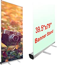 horizontal banner stands retractable