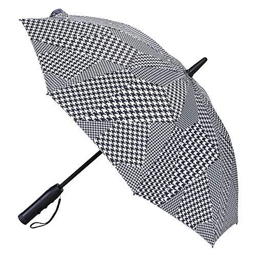 SPICE OF LIFE(スパイス) 扇風機付き日傘 ファンファンパラソル グレンチェック ブラックコーティング UVカット99.9% 1級遮光 晴雨兼用 電池式 親骨50cm HHLG2110