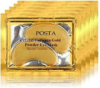 POSTA 24k Gold Eye Mask, 20 Pairs Eye Treatment Mask With Collagen, Under Eye Mask Treatment for Puffy Eyes, Dark Circles Corrector, Used for Eye Bags, Anti Aging Patches Luxury Gift for Women and Men