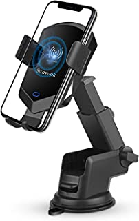 Qi Wireless Car Charger Mount Automatic Clamping 10W Fast Charging Air Vent Phone Holder Compatible with iPhone X/Xs MAX/XR/X/8/8+, Samsung Galaxy S10/S10+/S9/S9+/S8/S8+
